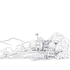 Sketch of Royal Orchard castle